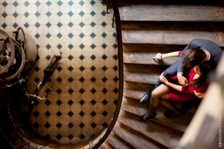 Seance photo engagement Paris Opera   Agnes Colombo, photographe engagement Paris