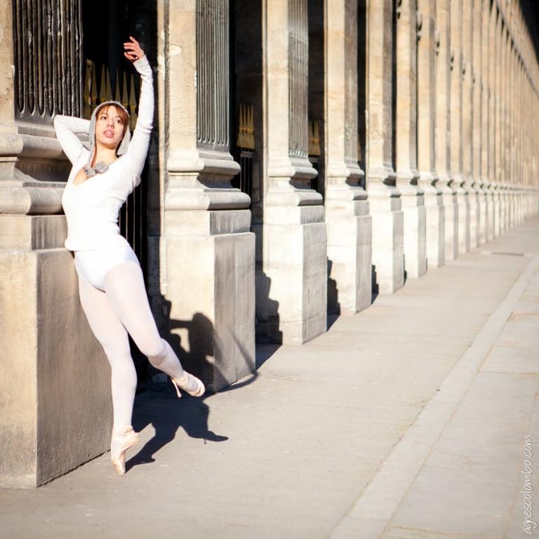 Seance photo portrait d'une danseuse Paris