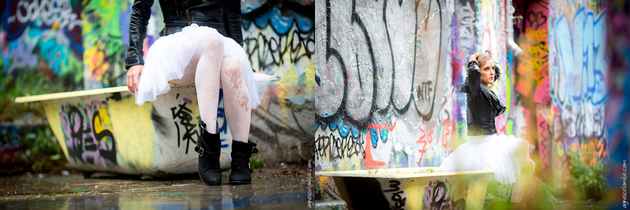 Trash the dress sous la pluie Paris | Agnes Colombo, photographe mariage Paris