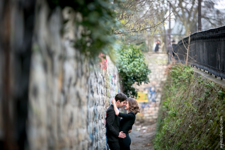 Photographe couple Paris Montmartre | Agnes Colombo, photographe couple Paris