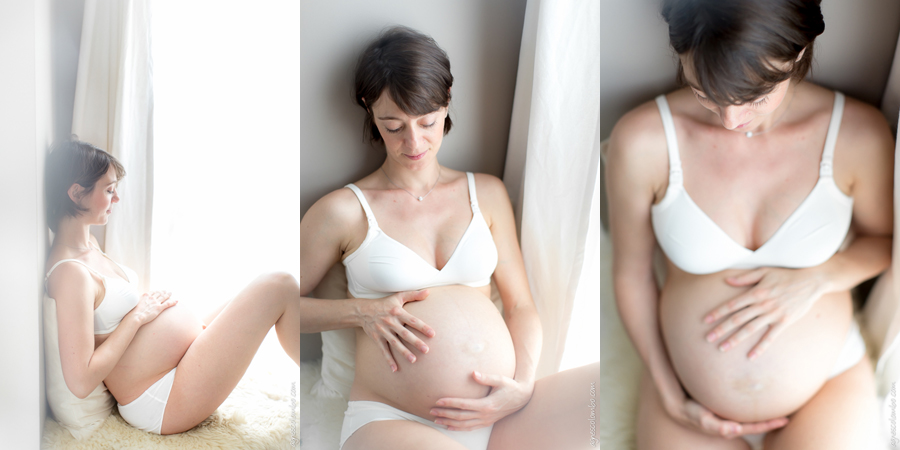 Photographe femme enceinte intime Montesson | Agnes Colombo, photographe grossesse Paris