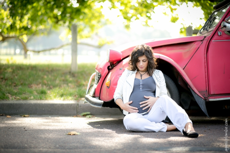 Formation photo femme enceinte Bagatelle | Agnes Colombo, photographe maternité Paris