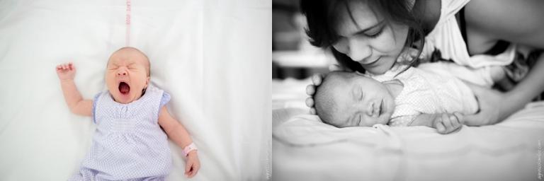 Portrait nourrisson maternite Poissy | Agnes Colombo, photographe maternité Paris
