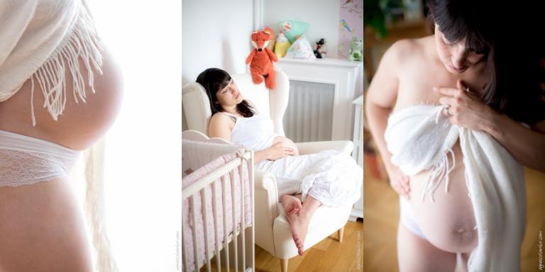 Seance grossesse domicile Nanterre | Agnes Colombo, photographe maternité Paris