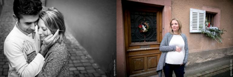 Seance grossesse de Noël Alsace | Agnes Colombo, photographe grossesse Paris