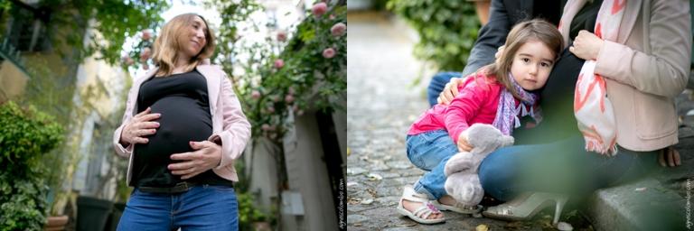 Photographe grossesse en campagne à Paris | Agnes Colombo, photographe maternité Paris
