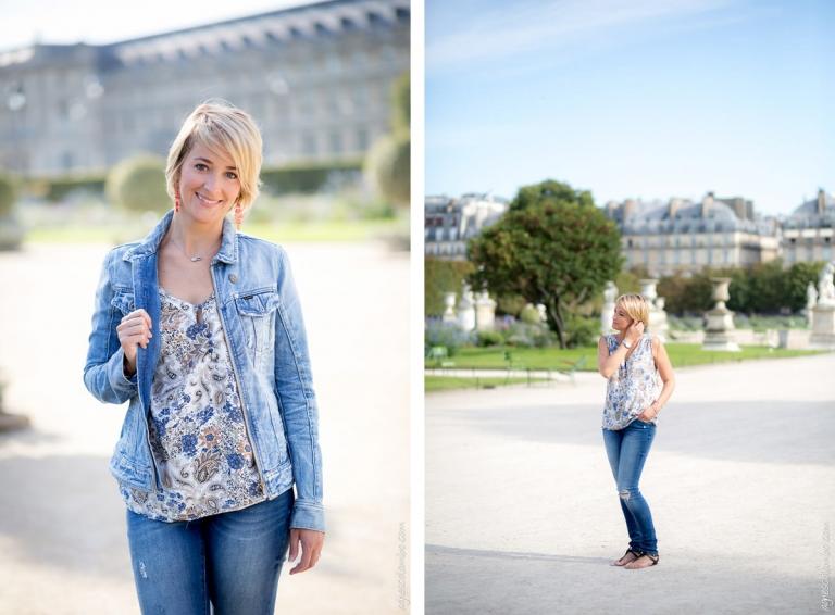 Portrait de femme aux Tuileries