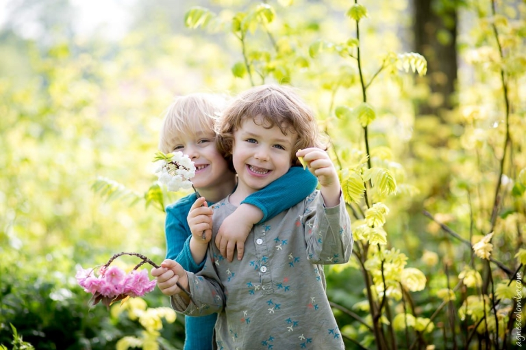 Portrait famille printemps Paris