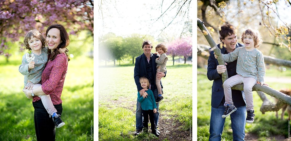 Portrait famille printemps Paris