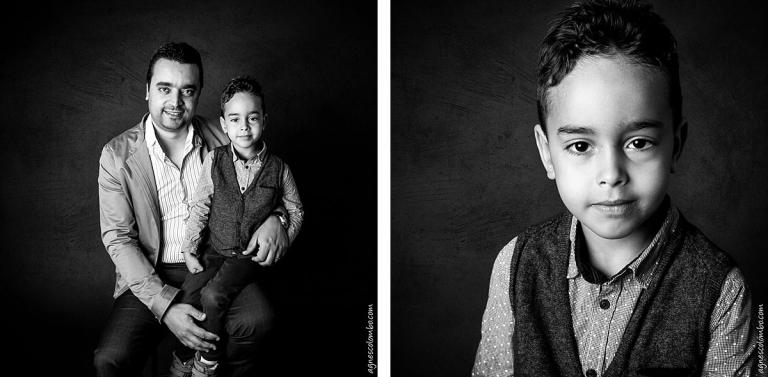 Photographe bebe studio en noir et blanc Boulogne