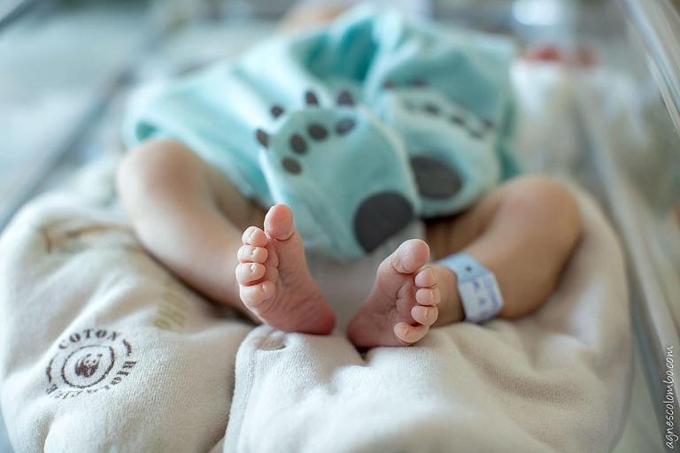 Photo nouveau-né en maternité Saint-Cloud