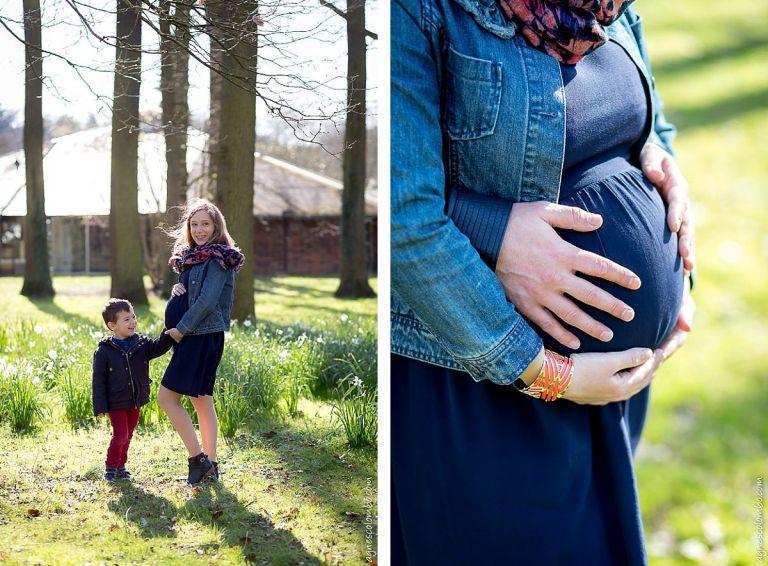 Photo femme enceinte Paris printemps