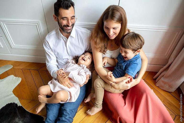 Séance famille à domicile Paris 16