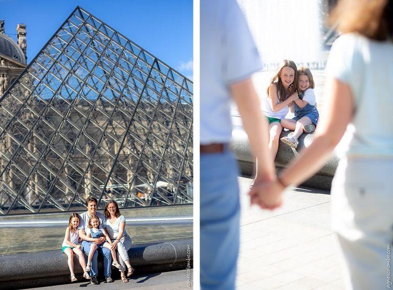 Séance famille au Louvre