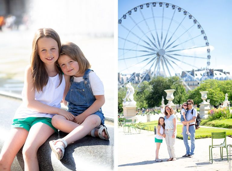 Séance famille au Jardin des Tuileries