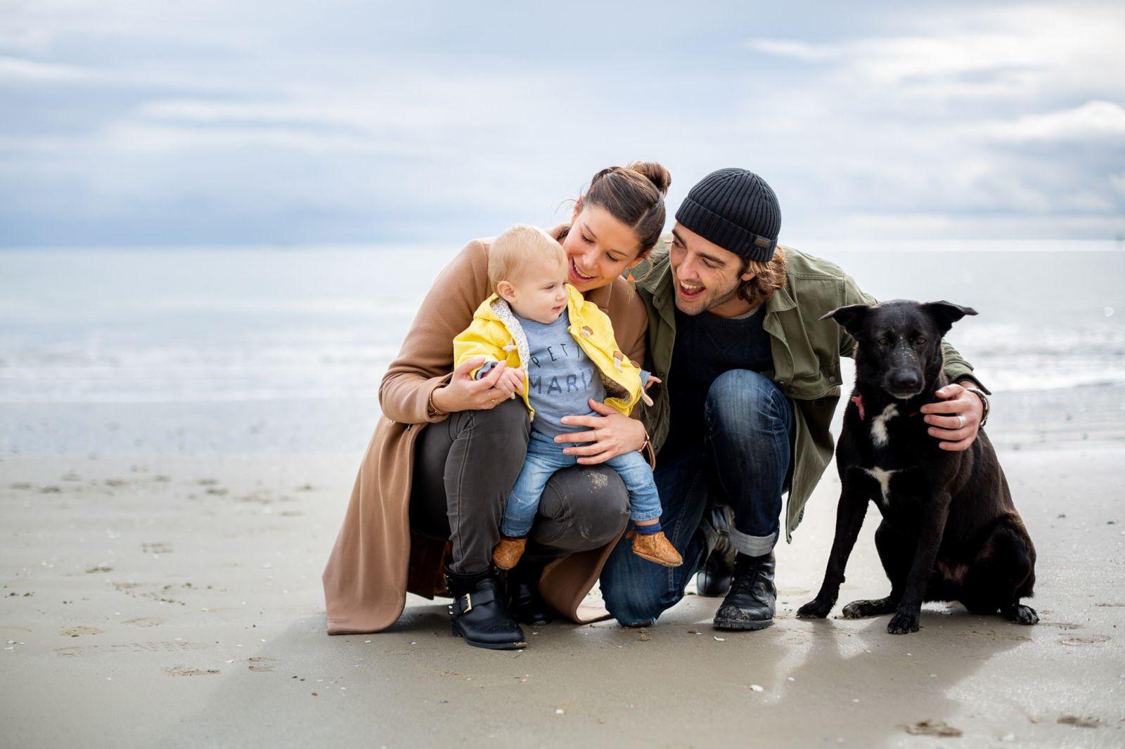 seance famille à la plage