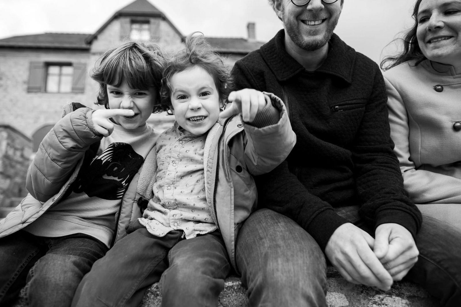 photo de famille dynamique
